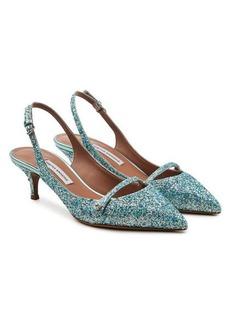 Tabitha Simmons Layton Slingback Glitter Pumps
