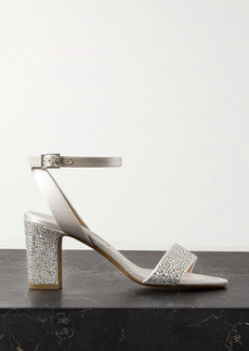 Tabitha Simmons Leticia Swarovski Crystal-embellished Satin Sandals