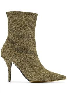 Tabitha Simmons metallic Eldon 95 lurex ankle boots