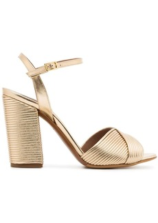 Tabitha Simmons metallic gold kali champagne 100 leather sandals