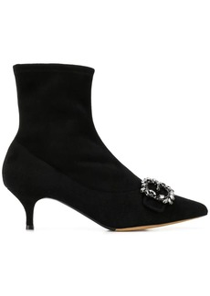 Tabitha Simmons Oscar embellished sock boots