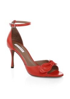 Tabitha Simmons Patent Leather Ankle-Strap Sandals