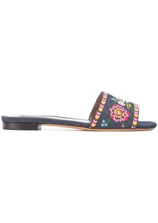 Tabitha Simmons patterned sandals