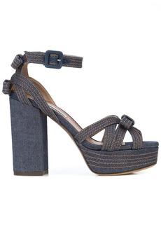 Tabitha Simmons platform bow sandals
