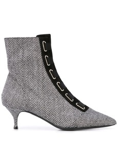 Tabitha Simmons Quin chevron ankle boots
