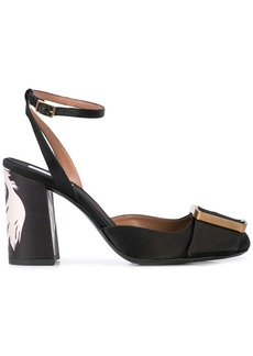 Tabitha Simmons Serena large-buckle pumps