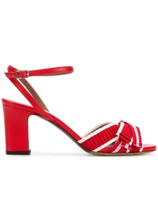 Tabitha Simmons striped bow sandals