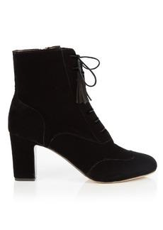 Tabitha Simmons Afton block-heel velvet ankle boots