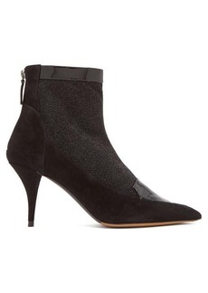 Tabitha Simmons Alana glittered suede ankle boots
