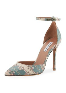 Tabitha Simmons Alhambra Jacquard Ankle Pumps