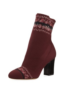 Tabitha Simmons Anna Floral-Embroidered Sock Boot