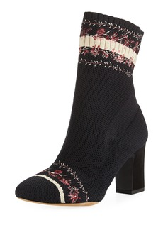 Tabitha Simmons Anna Floral-Embroidered Sock Boots