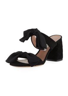 Tabitha Simmons Barbi Bow Suede Slide Sandal