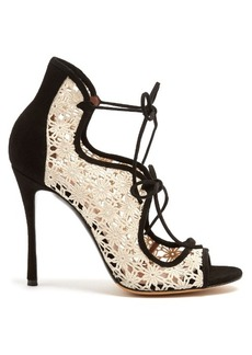 Tabitha Simmons Cali lace and suede sandals
