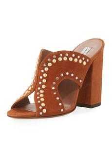 Tabitha Simmons Celia Studded Suede Mule Sandal