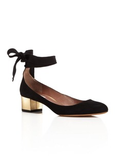 Tabitha Simmons Chloe Ankle Wrap Block Heel Pumps
