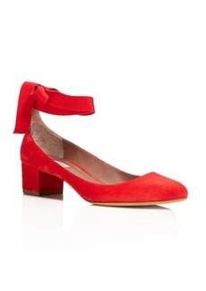 Tabitha Simmons Chloe Ankle Wrap Block Heel Pumps