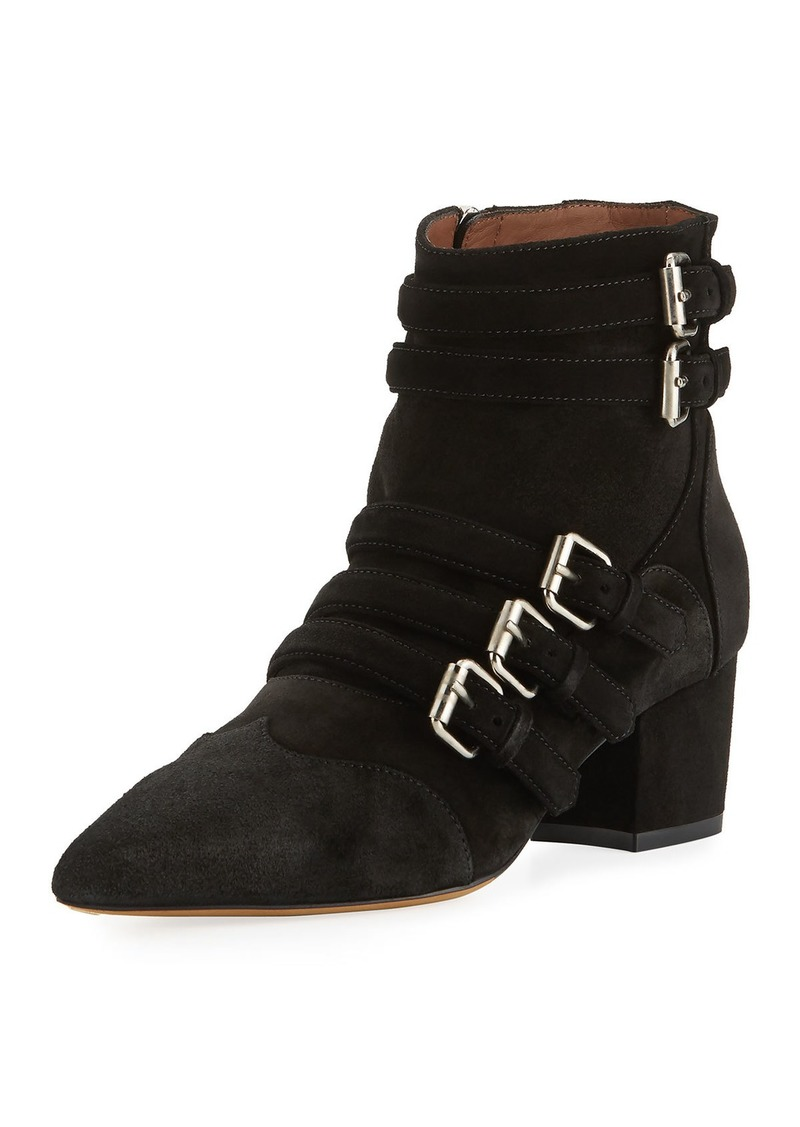 Tabitha Simmons Christy Suede Buckle 50mm Booties