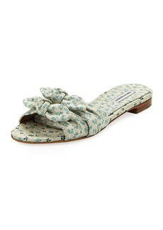 Tabitha Simmons Cleo Floral Slide Sandals