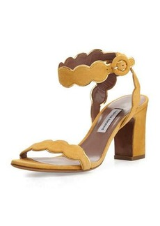 Tabitha Simmons Cloud Suede Ankle-Wrap 75mm Sandal