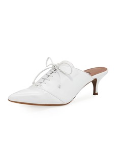 Tabitha Simmons Drew Point-Toe Lace-Up Mule Pump