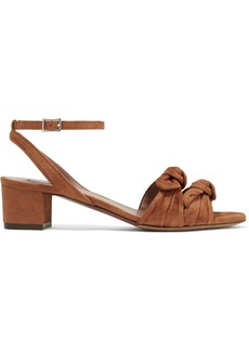 Tabitha Simmons Eloy Bow-embellished Suede Sandals