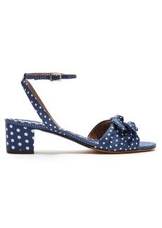 Tabitha Simmons Eloy polka dot-print canvas sandals