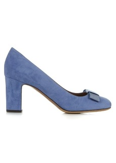 Tabitha Simmons Flora bow-detail suede pumps