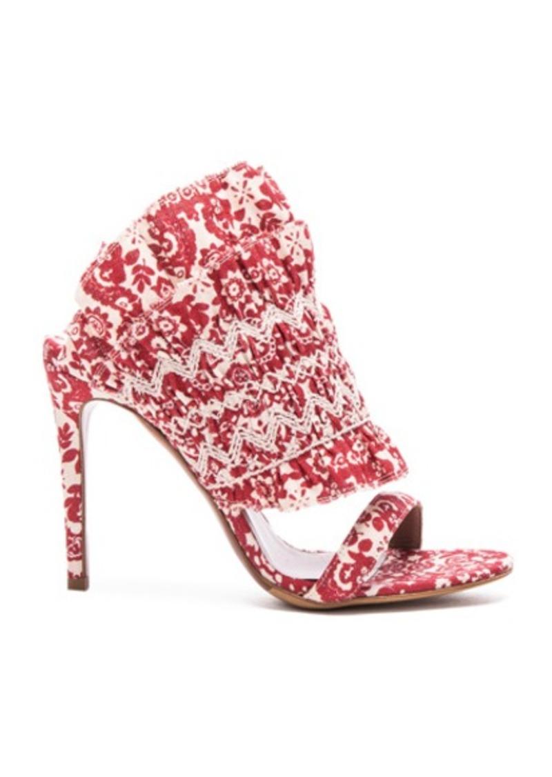 Tabitha Simmons Flouncy Linen Heels