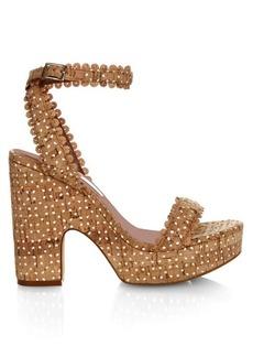 Tabitha Simmons Harlow cork platform sandals
