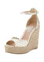 Tabitha Simmons Harp Scalloped Leather Wedge