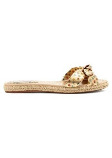Tabitha Simmons Heli knotted leather espadrilles