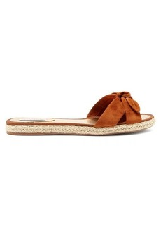 Tabitha Simmons Heli knotted suede espadrilles