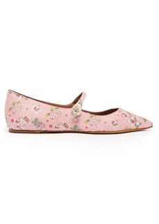 Tabitha Simmons Hermione floral-jacquard flats