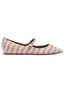 Tabitha Simmons Hermione floral-jacquard Mary Jane flats