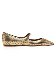 Tabitha Simmons Hermione floral-print leather Mary Jane flats