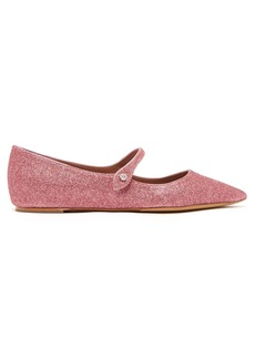 Tabitha Simmons Hermione glittered leather flats