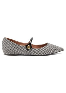 Tabitha Simmons Hermione houndstooth Mary-Jane flats