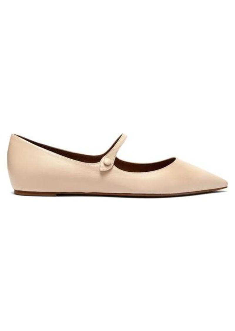 Tabitha Simmons Hermione leather Mary-Jane flats