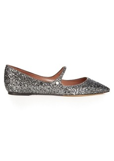 Tabitha Simmons Hermione point-toe glitter flats
