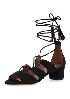 Tabitha Simmons Isadora Suede Lace-Up Sandal