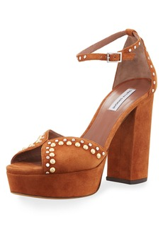 Tabitha Simmons Julieta Studded Platform Suede Sandals