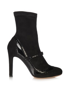 Tabitha Simmons Kessie suede sock ankle boots