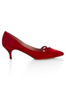 Tabitha Simmons Layton velvet Mary-Jane pumps