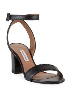 Tabitha Simmons Leticia Ankle-Wrap Frilled Leather Sandals