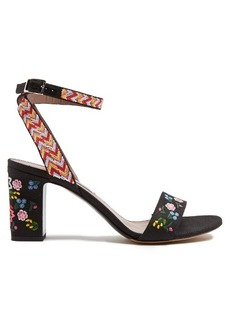Tabitha Simmons Leticia embroidered linen sandals