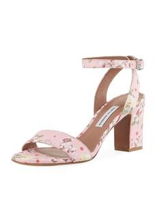 Tabitha Simmons Leticia Floral Block-Heel Sandal