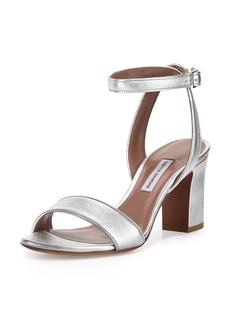 Tabitha Simmons Leticia Metallic Ankle-Wrap Sandal