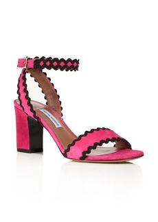 Tabitha Simmons Leticia Suede Ric Rac High-Heel Sandals