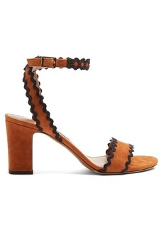 Tabitha Simmons Leticia ric-rac trimmed suede sandals